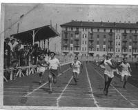 arrivo dei 100 metri al Campo Michelin di Torino