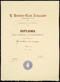 Diploma del Rowing Club Italiano - 1897