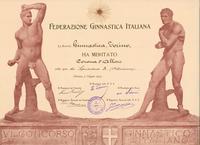 Diploma di Alloro per il VI Concorso Ginnastico Italiano - Firenze, 5 giugno 1904