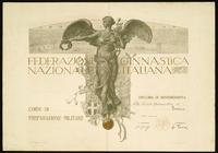 Diploma di benemerenza per i Corsi di preparazione militare - Roma, 5 maggio 1916