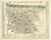 Pianta della città di Torino risalente al 1880